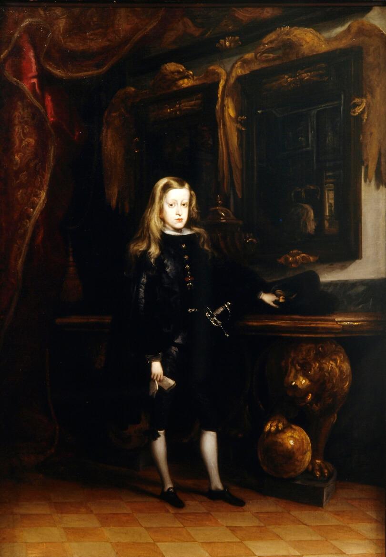 Carlos II a los diez años