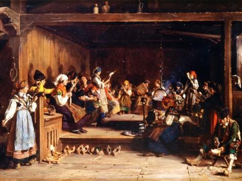 Filandón en Monasterio de Hermo (1872), de Luis Álvarez Catalá