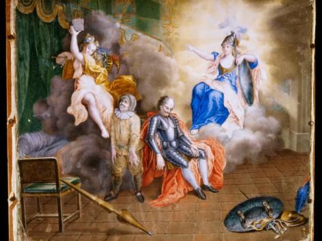 La muerte de Don Quijote (Alegoría de la Razón y la Locura), ca. 1740-1750