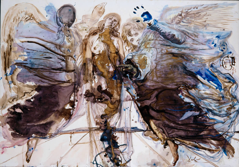 Metamorfosis de ángeles en mariposa