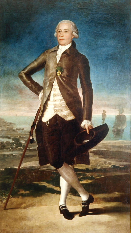 Retrato de Jovellanos en el arenal de San Lorenzo