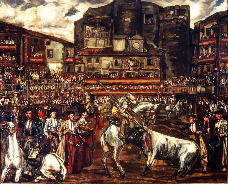 Corrida de toros en Sepúlveda (1923), de José Gutiérrez Solana