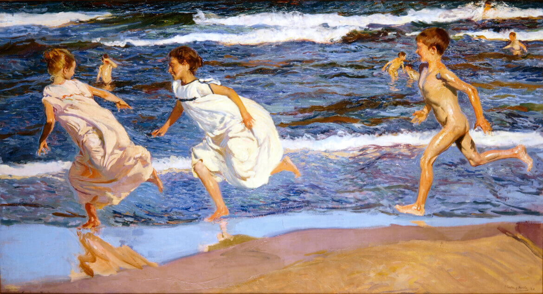 Corriendo por la playa. Valencia (1908), de Joaquín Sorolla