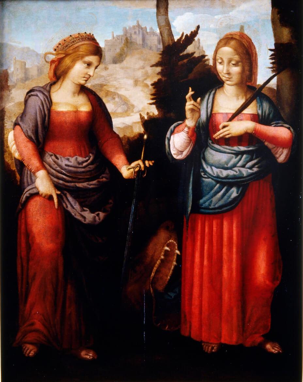 Santa Catalina y Santa Margarita (ca. 1515), de Yáñez de la Almedina