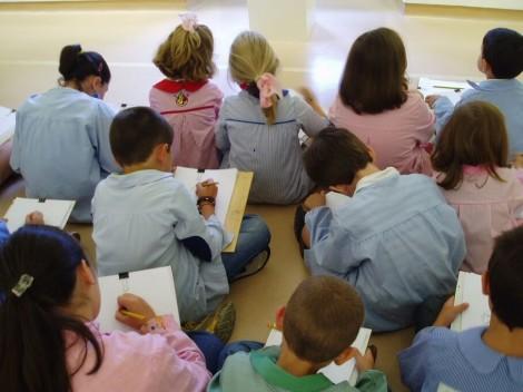 Niños y niñas durante un taller en el Museo.