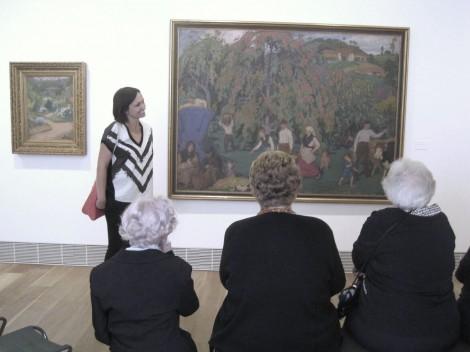 Grupo durante una visita.