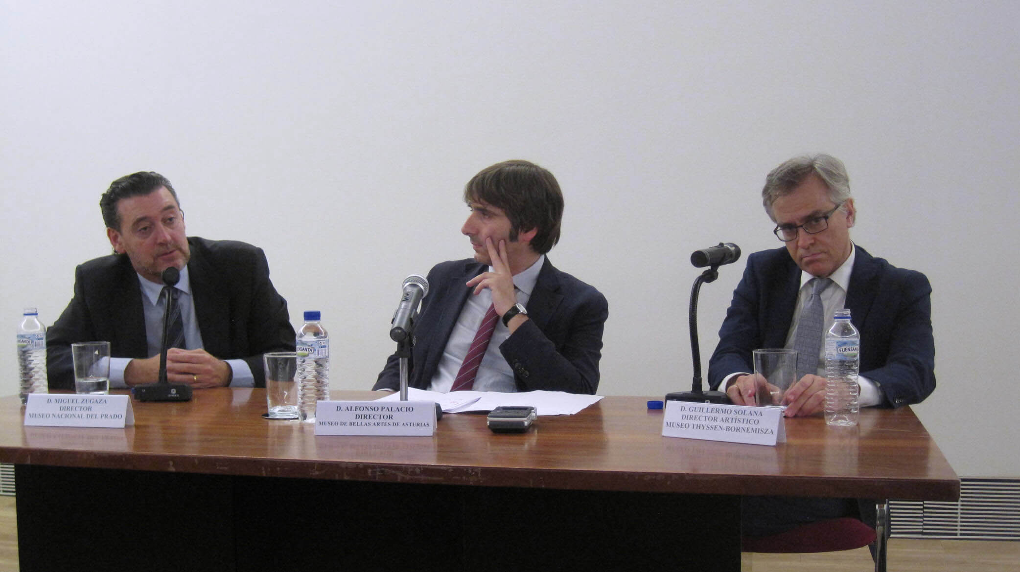 Miguel Zugaza y Guillermo Solana debaten sobre museos en el Bellas Artes