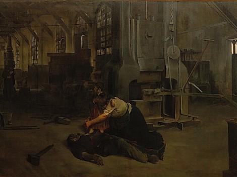 Después de una huelga, 1895, de José Uría