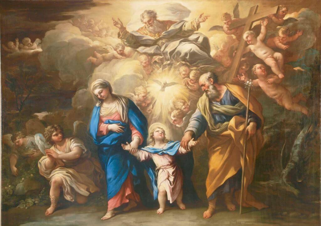 La Trinidad en la Tierra, de Luca Giordano (Nápoles, 1634-1705)