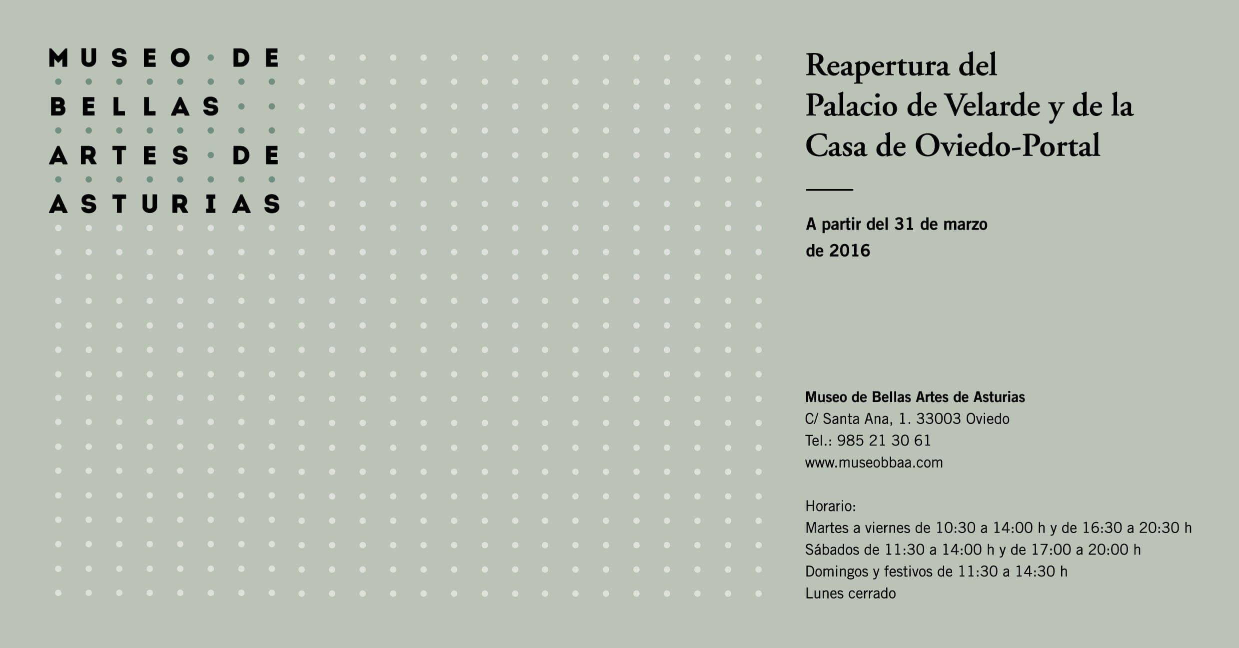 Reapertura del Palacio de Velarde y la Casa de Oviedo-Portal