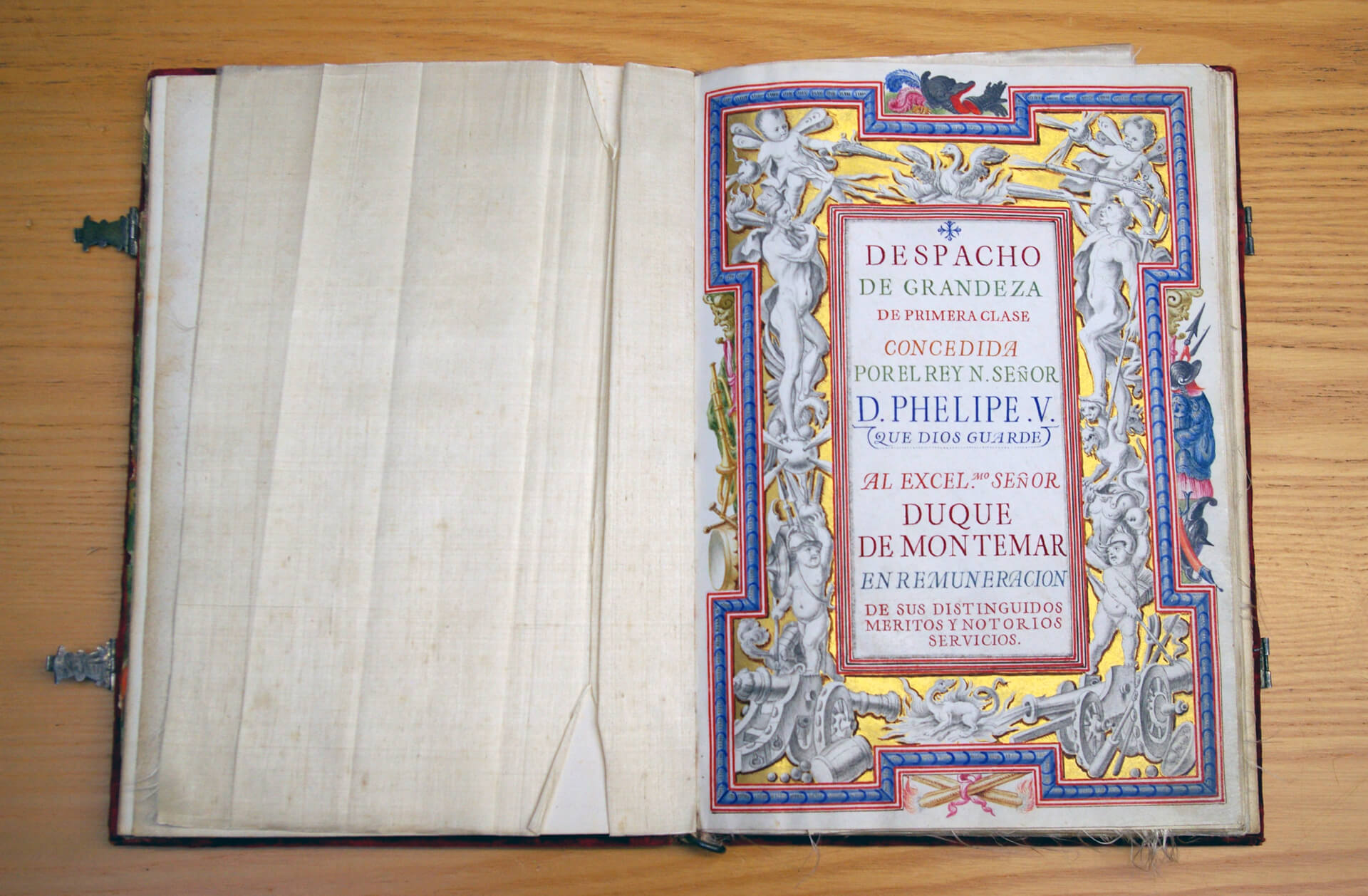 Tesoros de la Biblioteca del Museo (II): el Despacho de grandeza del Duque de Montemar
