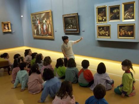 Un taller infantil en el Museo
