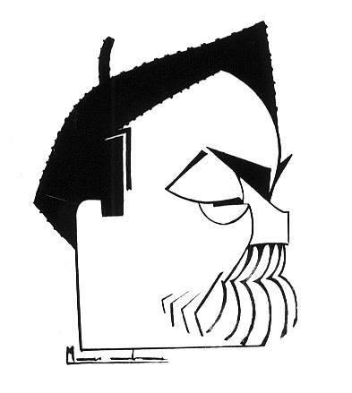 Caricatura de Pío Baroja