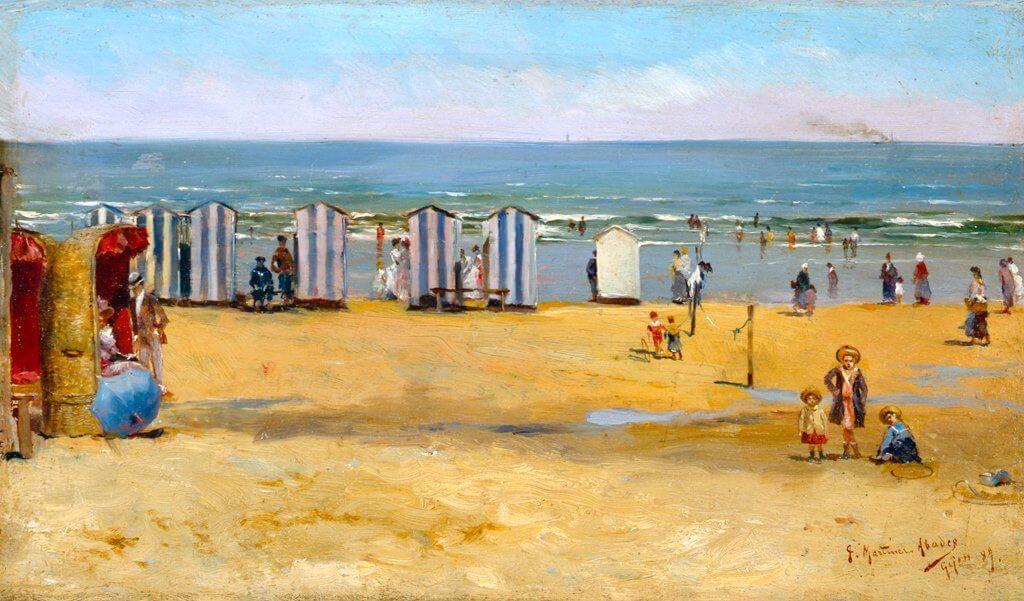 La playa de Gijón, Juan Martínez Abades
