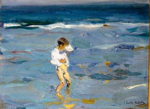 Niño en el mar de Joaquin Sorolla