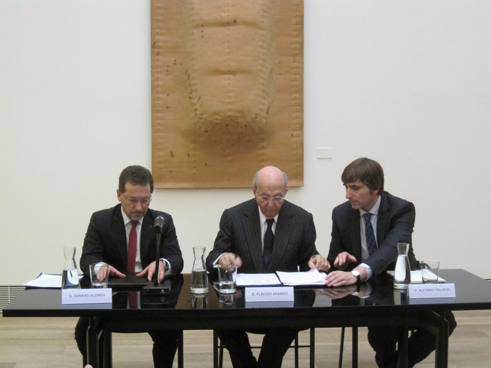 Acto de firma de la Donación Plácido Arango Arias al Museo de Bellas Artes de Asturias