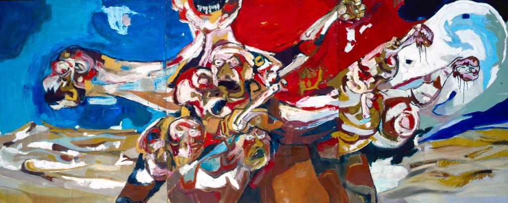 """Sobre una guerra civil"""" (1964) del artista Jaime Herrero (Gijón, 1937)"""