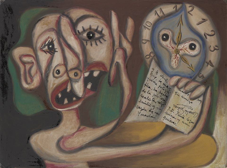 TEOREMA PICTÓRICO, 1932. Gouache y tinta china sobre papel. 350 x 470 mm.