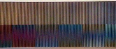 Depósito de la pintura Fisicromías nº 986 de Carlos Cruz-Díez por la Fundación Callia en el Museo de Bellas Artes de Asturias