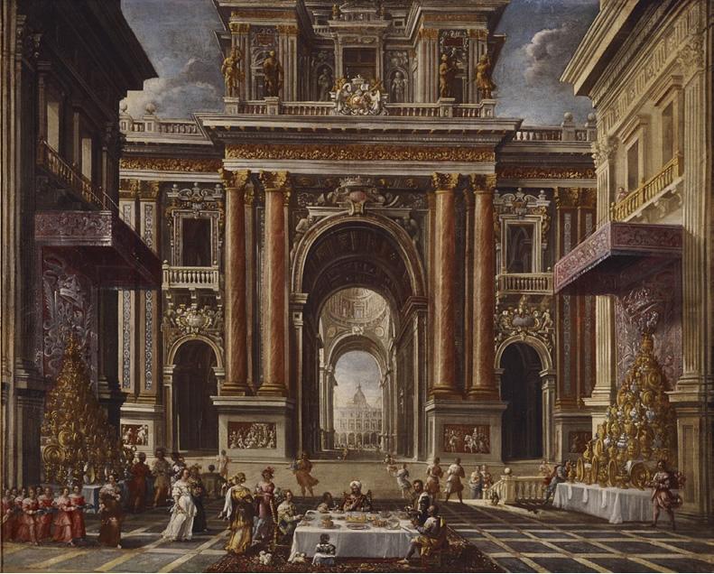 Francisco Gutiérrez. El banquete de Ester, hacia 1666. Donación Plácido Arango Arias al Museo de Bellas Artes de Asturias.