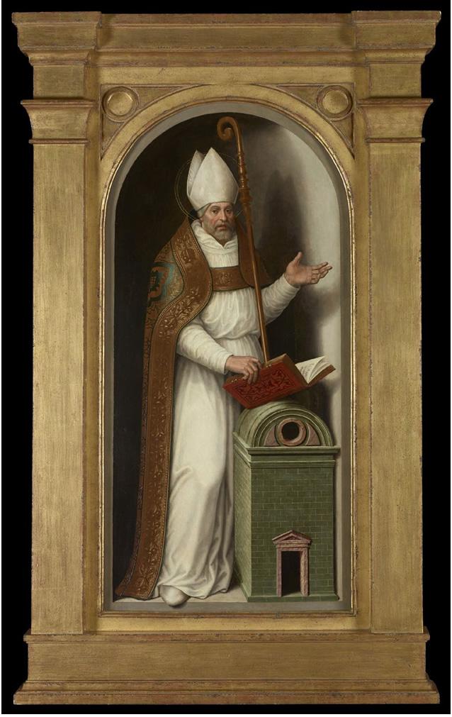 Juan de Juanes. San Agustin, 1579. Donación Plácido Arango Arias al Museo de Bellas Artes de Asturias