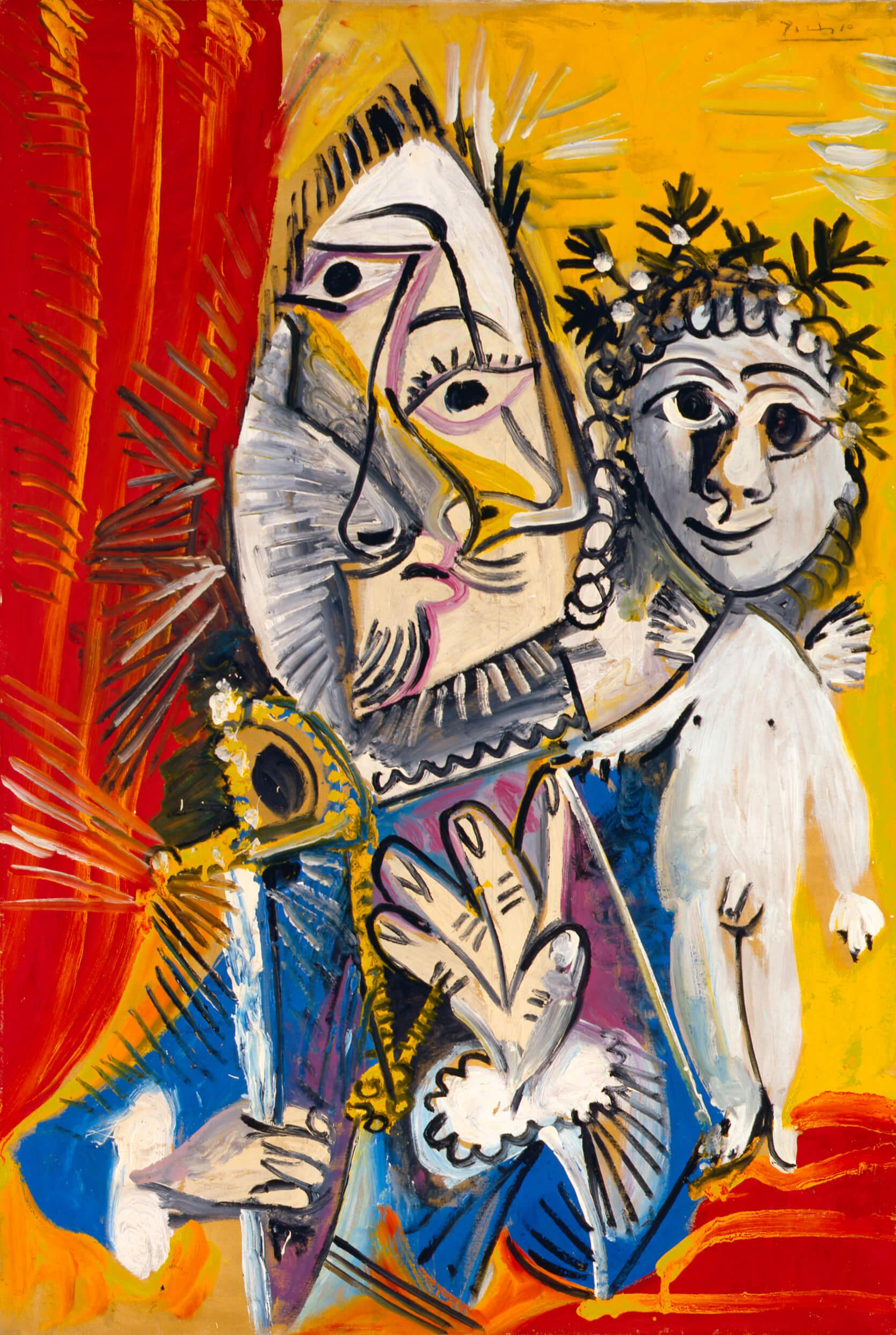 Pablo Picasso, Mousquetaire à l'épée et amour, 1969 .Museo de Bellas Artes de Asturias. Colección Pedro Masaveu