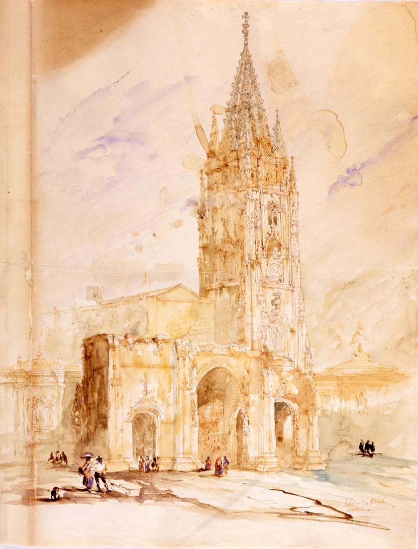 Genaro Pérez Villaamil, La catedral de Oviedo, 1846