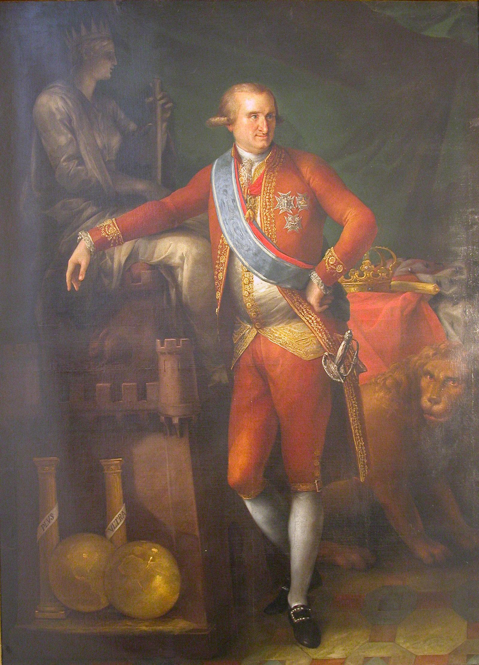 Carlos IV ejecutado por Bernardo Martínez del Barranco en 1789.