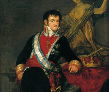 RETRATO DE FERNANDO VII, 1814, DE FRANCISCO DE GOYA