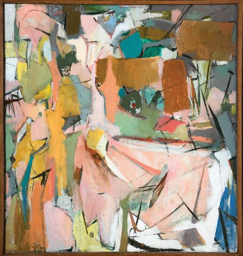 Esteban Vicente. Growth, ca. 1951. Oleo sobre lienzo. 121,9 x 114,3 cm. Colección MACBA. Fundación MACBA. Obra adquirida gracias a la Fundación bancaria