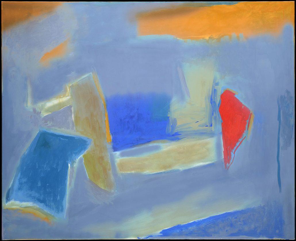 Esteban Vicente. Nuance, 1990. Óleo sobre lienzo. 132 x 162,5 cm. Colecciones Reales. Patrimonio Nacional. Palacio de la Moncloa.