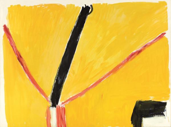 José Guerrero. La brecha III, 1989. Técnica mixta sobre lienzo. 195 x 260 cm. Colección Diputación de Granada.
