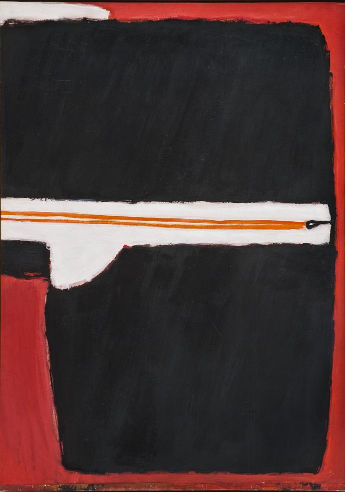 José Guerrero. Presence of Black, 1977. Óleo sobre lienzo. 179 x 126,5 cm. Centro José Guerrero, Diputación de Granada, Granada