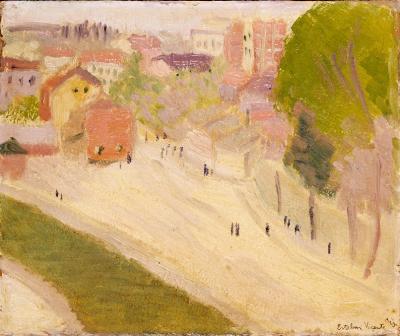 1. Esteban Vicente. Sin título, 1923. Óleo sobre cartón. 22 x 27,5 cm. Colección Sagrario de Uliarte Vicente,. Madrid