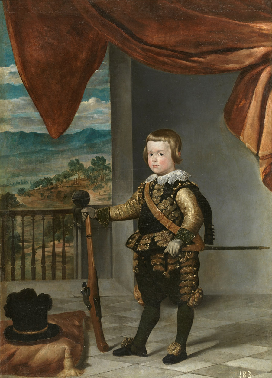 El príncipe Baltasar Carlos (c. 1635), Velázquez y taller. Museo Nacional del Prado