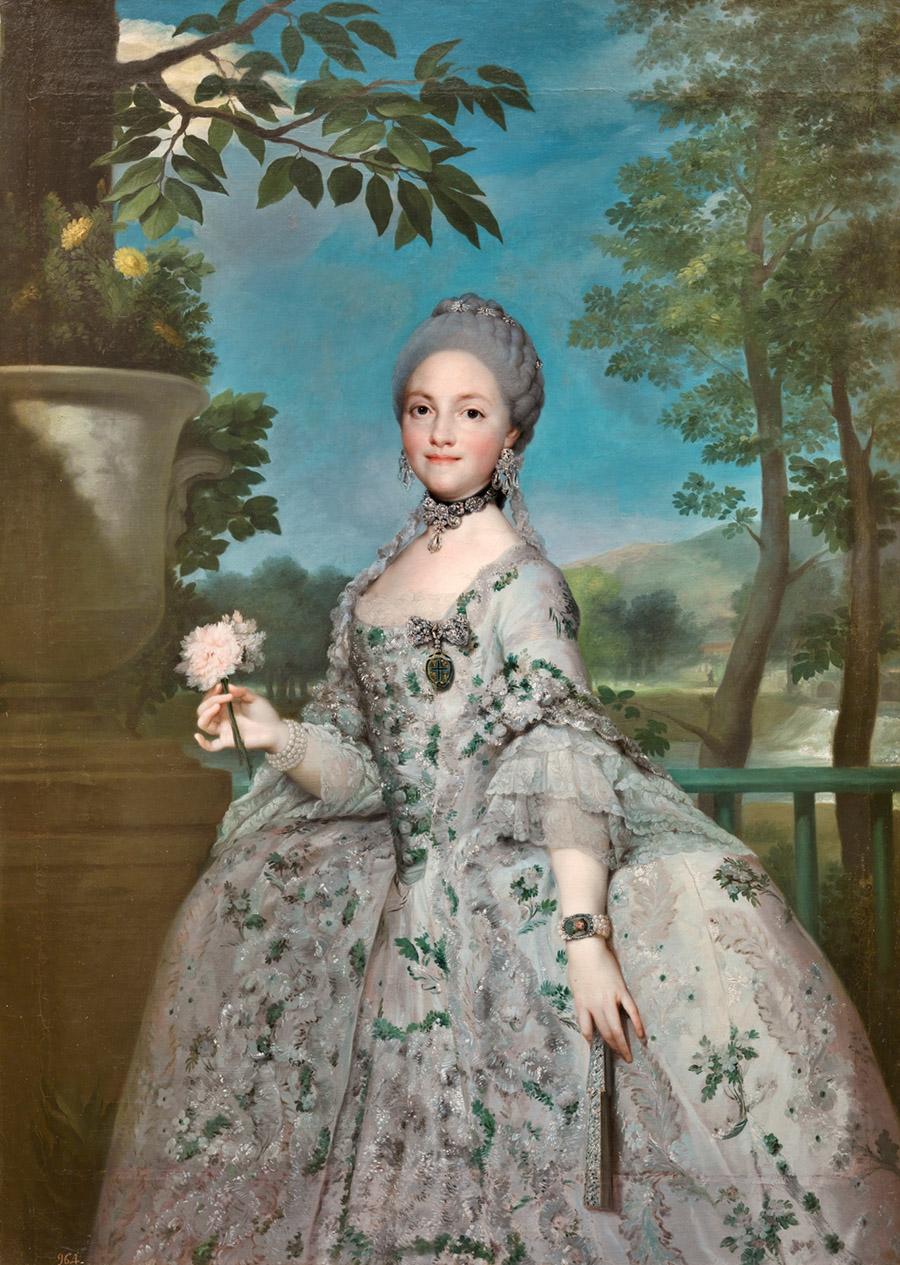 María Luisa de Parma, Princesa de Asturias (c. 1765), Anton Rafael Mengs. Museo Nacional del Prado