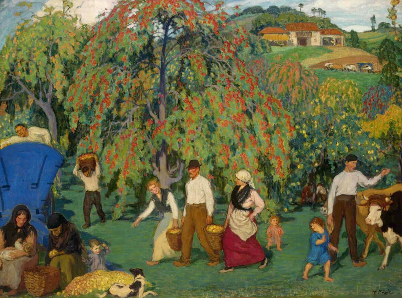 Recogiendo la manzana (1922), de Nicanor Piñole