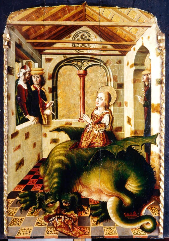 Retablo de San Marina (detalle, ca. 1500), del Maestro de Palanquinos