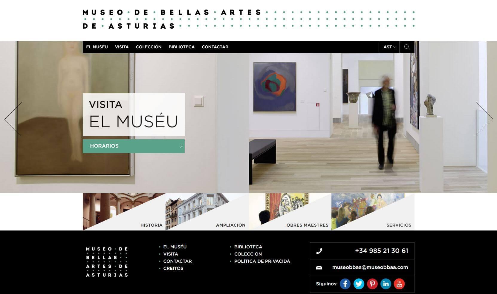 El Museo de Bellas Artes de Asturias estrena web en asturiano coincidiendo con el Día de les Lletres Asturianes
