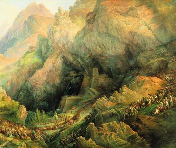 Procesión en el Santuario de la Virgen de Covadonga, por Genaro Pérez Villaamil, a cargo de Javier Barón (Jefe del área de Conservación de Pintura del siglo XIX del Museo del Prado)
